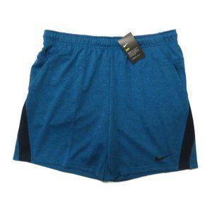 Nike Dri-Fit Mens Training Shorts XXL Blue New NWT